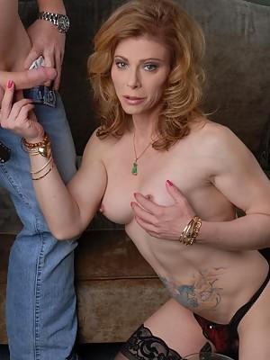 Naughty TMILF Jasmine Jewels in hot blow-job action